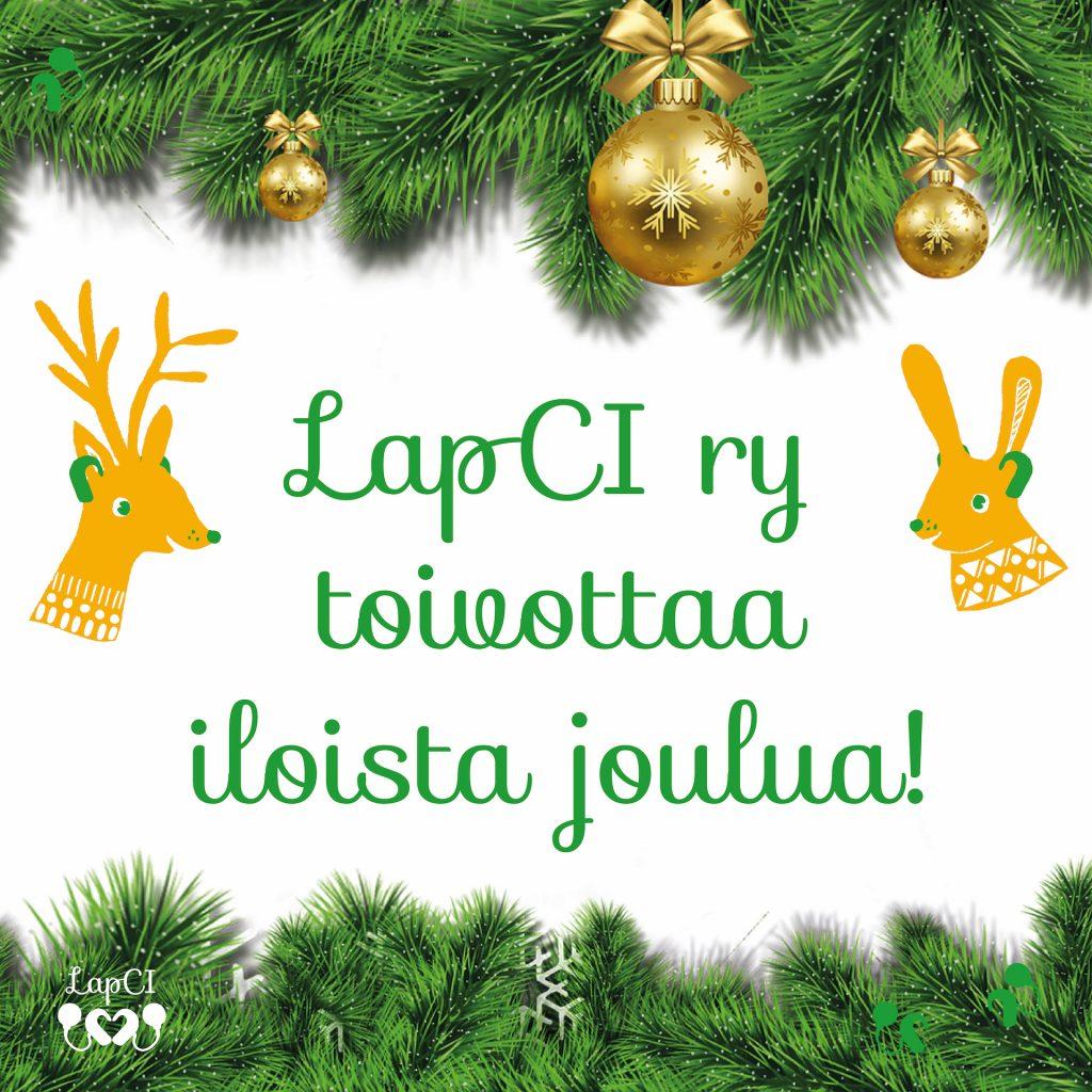 Hyvää joulua toivottaa koko LapCI ry:n väki