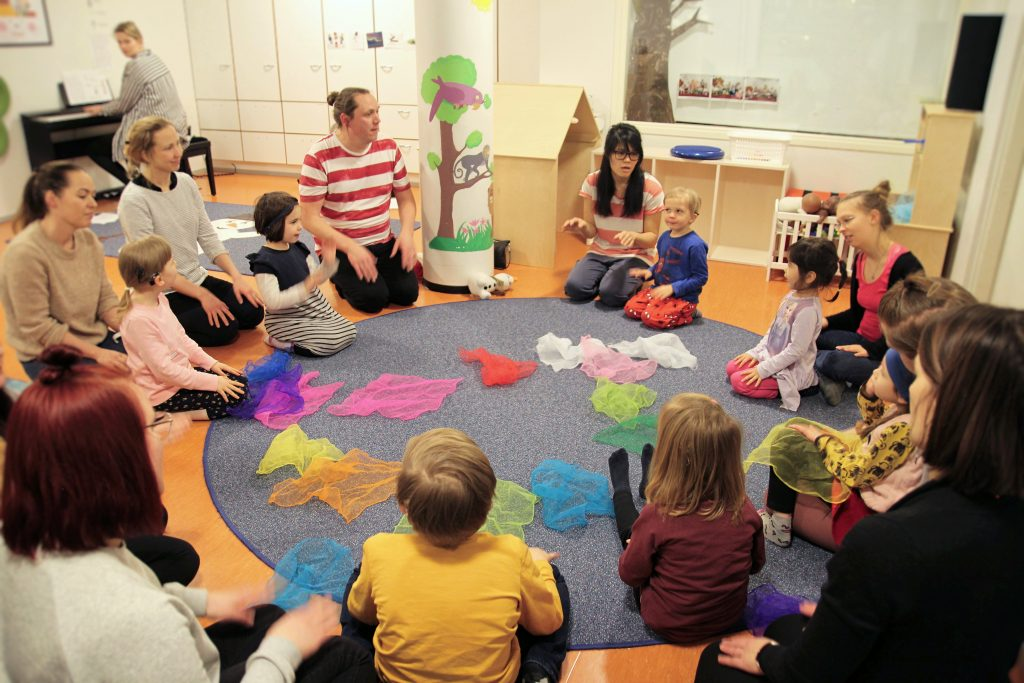 tilannekuva cisumusasta, lapset istuvat ringissä