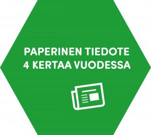 Paperinen tiedote 4 kertaa vuodessa