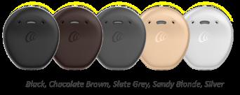 Kuvassa Kanso 2 -puheprosessori eri väreissä
