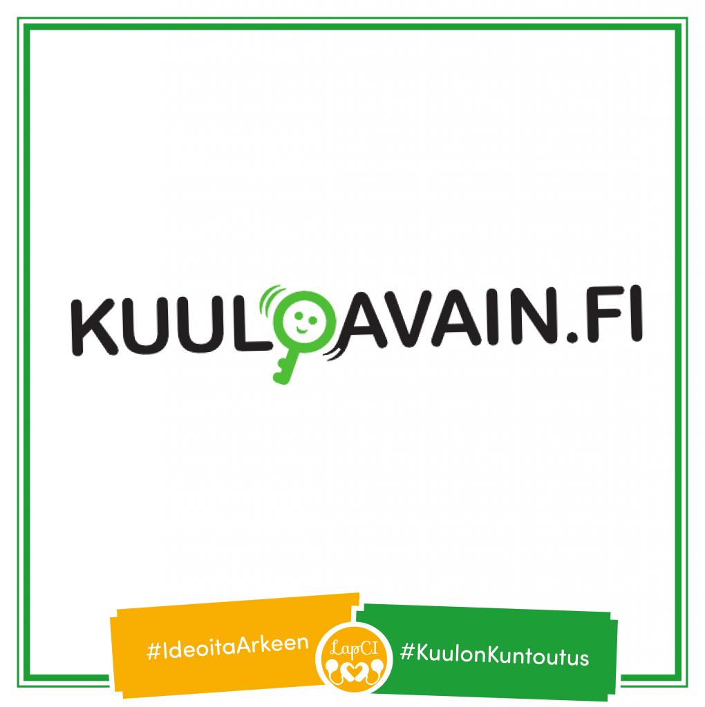 Kuuloavain.fi -portaalin mainos häshtägeillä Ideoita Arkeen ja Kuulon kuntoutus.