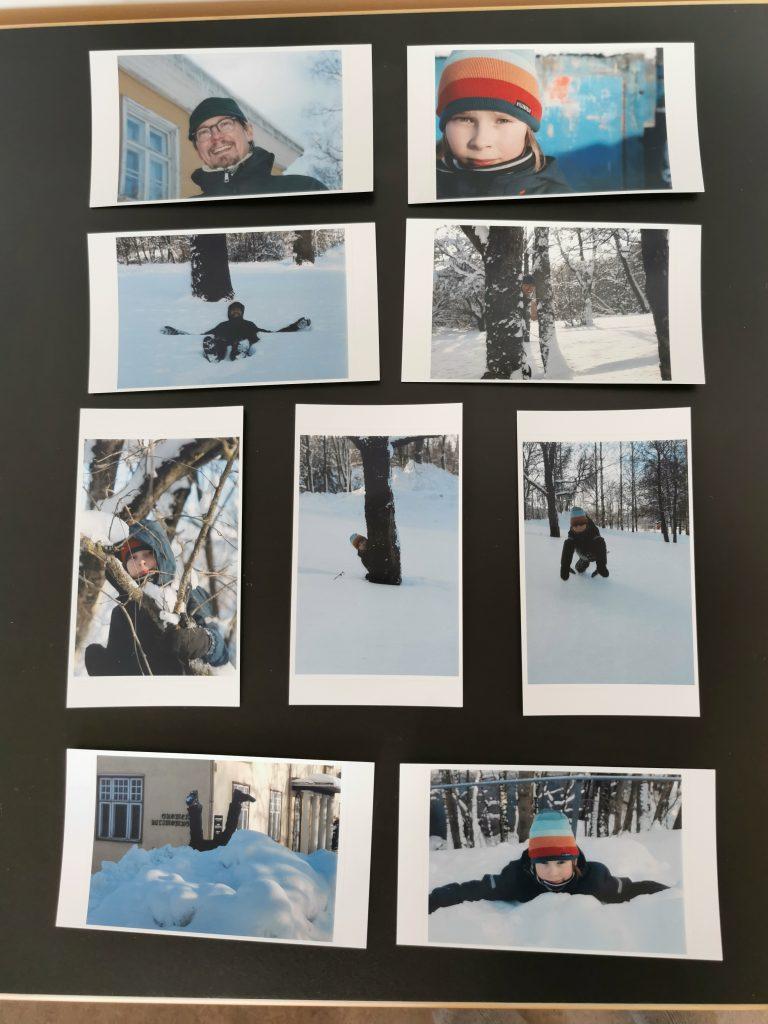 Kollaasi erään parin talvisista voimauttavista kuvista.