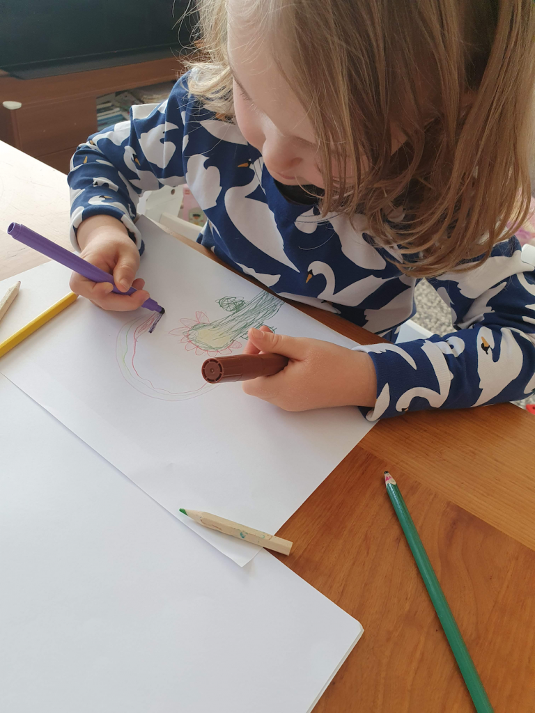 Pictured: Ada drawing.   / Ada's story