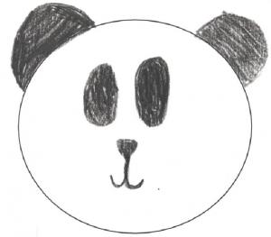 Kuvassa Panda-mallinen kelahattupiirros