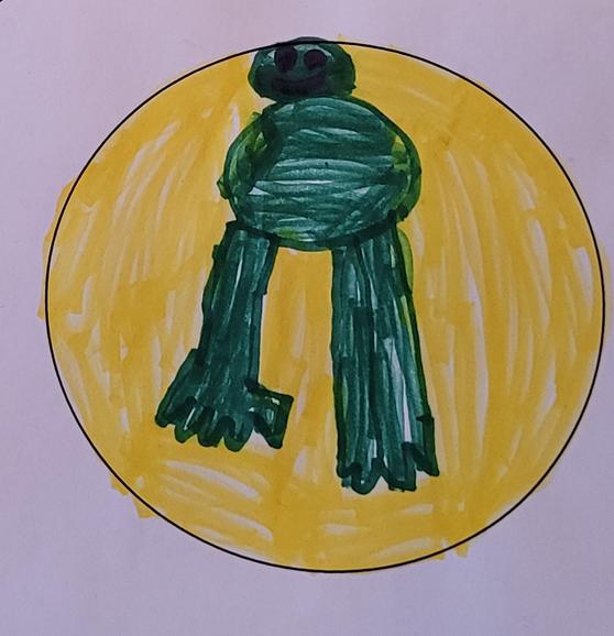 kelahatussa keltaista ja vihreää väriä
